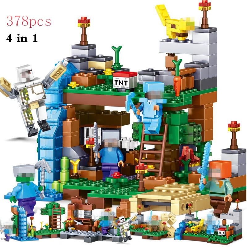 Blocks MY WORLD Compatible Minecrafted Figures City Building Blocks Bricks Set Educational Enlighten Toys For Children