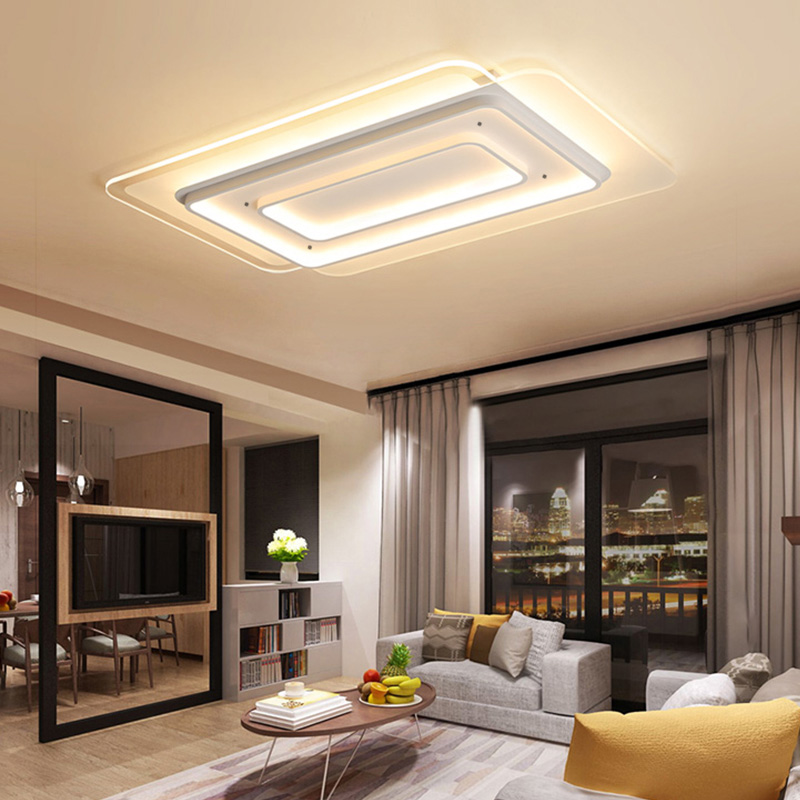 Ultra-thin Modern Acrylic LED Ceiling Lights For Living Room Bedroom Study plafonnier Ceiling Lamp Indoor Decoration LightingUltra-thin Modern Acrylic LED Ceiling Lights For Living Room Bedroom Study plafonnier Ceiling Lamp Indoor Decoration Lighting