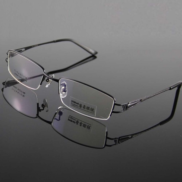 cbef0f601b0b Unisex 100% Titanium Eyeglasses Frame Glasses Men Frame Half Rimless  Spectacles Eyeglasses Frames Women Prescription Glasses