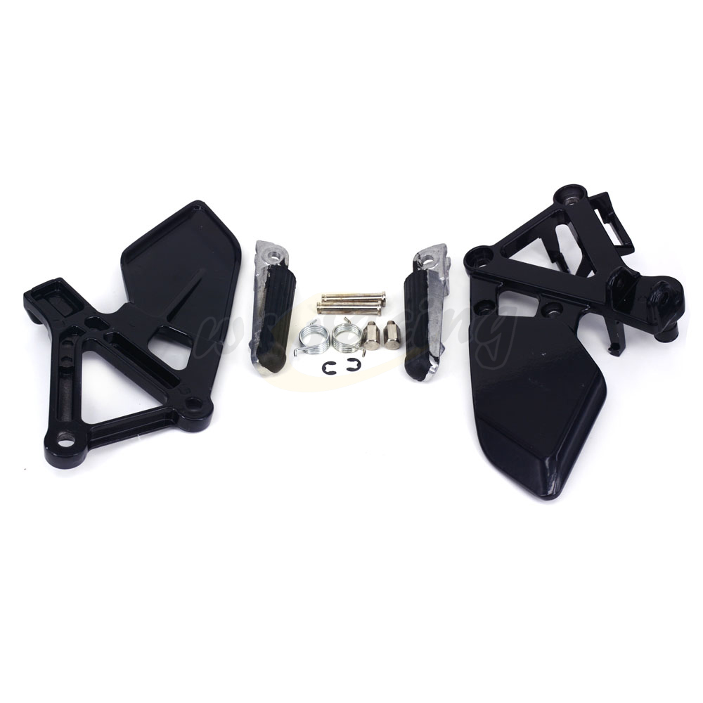 Motorcycle Footrests Front Foot Pegs Pedals Rest Footpegs For HONDA CBR250 MC19 1988-1989 88 89