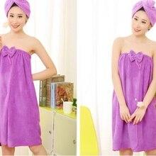 Женский банный полотенце поглотитель из микроволокна, сушильная носимая юбка, платье, полотенце для ванной комнаты