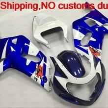 Обтекатель комплект GSXR 600 750 1000 2002 всего тела комплект для Suzuki GSXR1000 2002 2000-2003 K1 K2 сине-белый обтекатель комплект GSXR600 2002