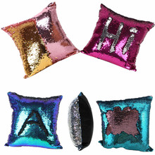 New Created Best 40*40cm Hot DIY Two Tone Glitter Sequins Throw Pillows Decorative Cushion Case Sofa Car Covers Free Shipping