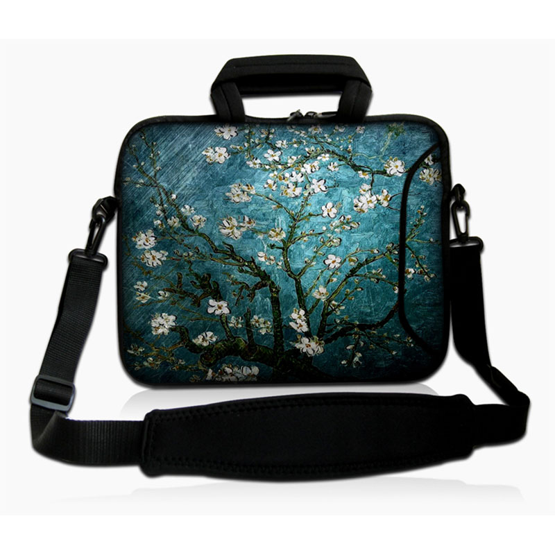 Cherry tree 14 14.1 14.2 inch Notebook Laptop Sleeve Bag for Men Women Cover Case Briefcase Shoulder Messenger Bag SS14-19