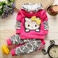 BibiCola Moda Primavera do bebê do Outono das meninas Do Esporte terno ajustado crianças de manga longa hoodies + calças roupas define crianças 2 pcs conjunto de roupas