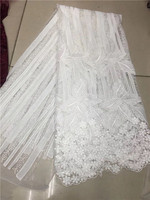 3d lace fabric bridal lace fabric wholesale high quality african embroidery lace fabric for wedding dresses