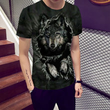 Mens tee 3d t shirt homme Summer Wolf Animal Printing Short Sleeve T-Shirt Blouse Tops Male funny t shirts camiseta masculina(China)