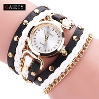 Gaiety women fashion watch quartz female clock pu leather crystal retro rivet luxury gold ladies women.jpg 200x200