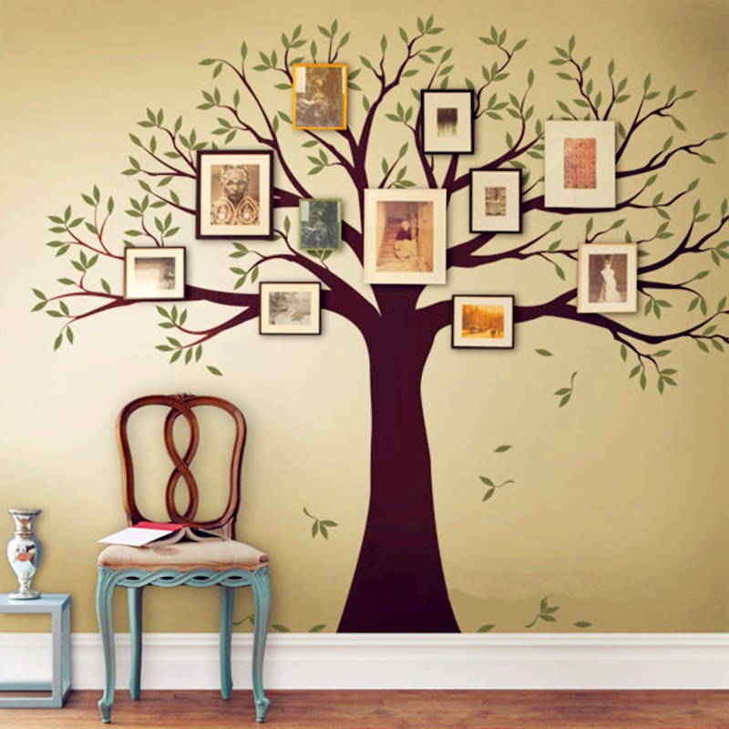 Family Tree Wall Decal Tree Wall Sticker Home Decor Living Room Wall ...
