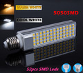 LED Corn Light 13w  5050 SMD G24 LED lamp Bulb Lighting 85~265V 52 leds smd warranty 2 years CE ROHS Free shipping 50pcs