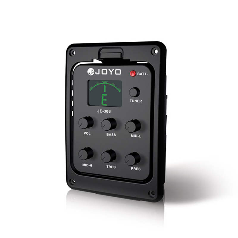цена на JOYO JE-306 5 Band EQ with Tuner/Tuning for Chromatic, Guitar, Bass, Free shipping
