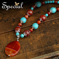 Special Fashion Natural Agate Maxi Necklace Vintage Necklace amp& Pendants Fine Jewelry Gifts For Girls Women XL150123