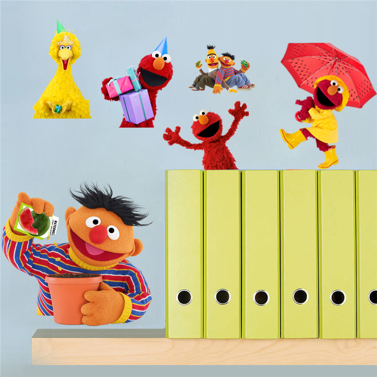 Us 31 88 Aliexpress 10pcs Pack Sesame Street Wall Stickers Vinyl Decal Nursery Decor Gift 031 Free Shipping From Reliable