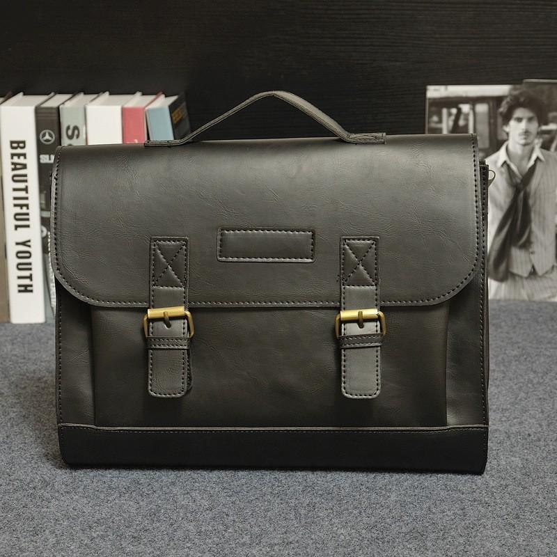 Vintage Men Business Real Genuine Leather Briefcase Travel Causal Shoulder Messenger Portfolio Laptop Bags Lawer Handbag Bolsa (20)