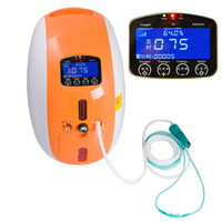 2L Portable Full Intelligent Home Oxygen Concentrator Generator with nebulizer work compact Silent Negative ion