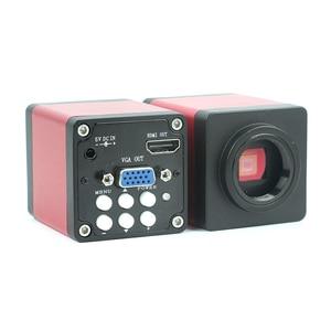Image 3 - Industria 7X 45X Simul focale Trinoculare Stereo Microscopio VGA HDMI Video Della Macchina Fotografica 720 p 13MP Per Il Telefono PCB Saldatura di Riparazione lab