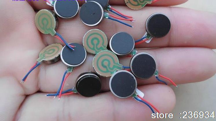 Short button-type ( 1027 ) vibration motor 10MM * 2.7 MM brushless vibration motor