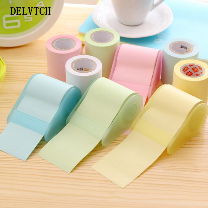DELVTCH Creative Memo pad Paper post-it notes with sticky self-adhesive stickers can be torn stick note Office School Supplies