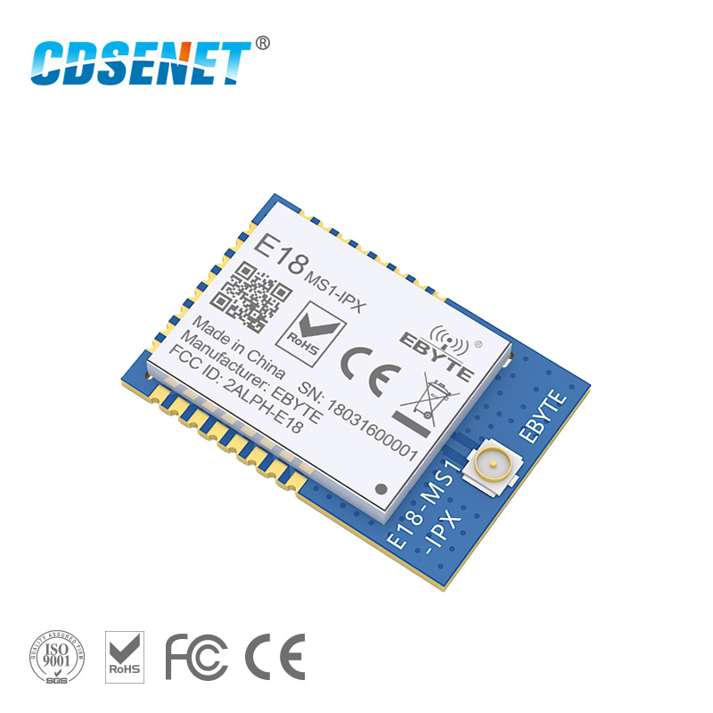 Zigbee CC2530 2.4GHz Wireless rf Module CDSENET E18-MS1-IPX <font><b>2.4</b></font> <font><b>GHz</b></font> Wireless <font><b>Transmitter</b></font> and Receiver Serial Port SOC Zigbee image