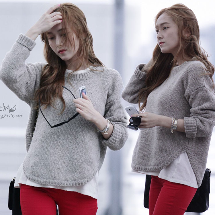 street snap Jessica airport fashion Sweater 2015 GIRLS GENERATION ...