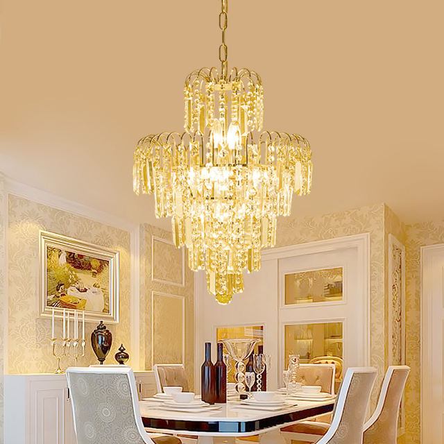 European Golden Crystal Chandelier