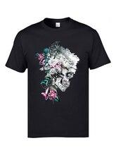 Momento Mori Flower Skull 3D Printed Tops Tees 2019 Fashion Personalized T Shirt Oversized Male Fitness Tshirts 3XL Skull Bone fotoniobox лайтбокс momento mori 45x45 121