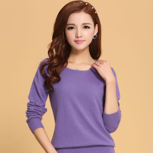 Mulheres Camisola 100% suéter de Cashmere puro Camisola de Malha de Inverno o pescoço Blusas Quentes para Senhoras Pullvoer Venda Quente de Cabra Cashmere roupas