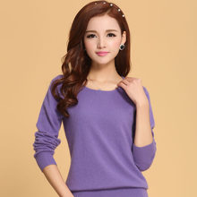Women Sweater 100% pure Cashmere Knitted Sweater Winter o-neck Warm Sweaters for Ladies Pullvoer Hot Sale Goat Cashmere clothes(China)
