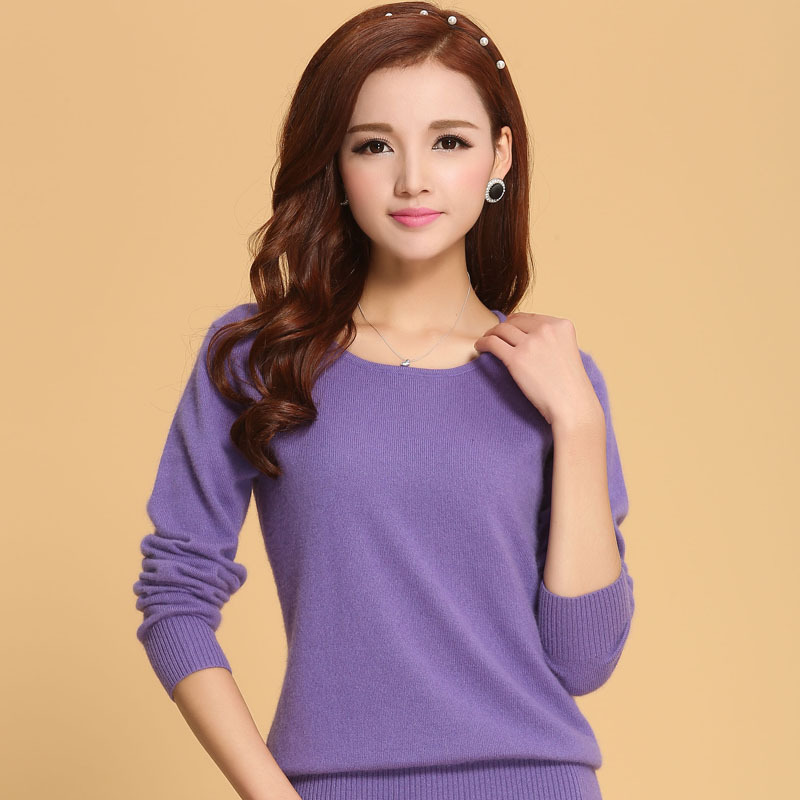 Women Sweater 100% pure Cashmere Knitted Sweater Winter o neck Warm Sweaters for Ladies Pullvoer Hot Sale Goat Cashmere clothes