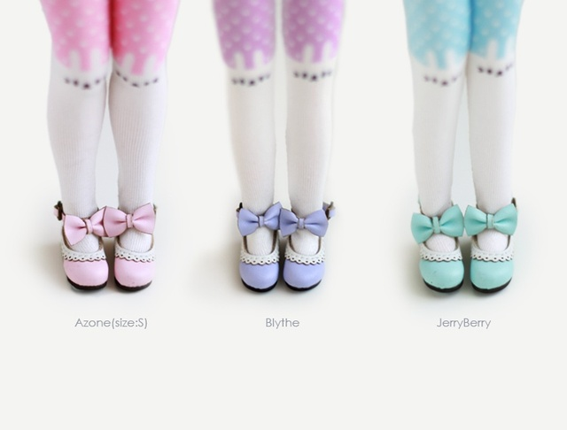 Neo Blythe Doll Lace Big Bow Tie Shoes