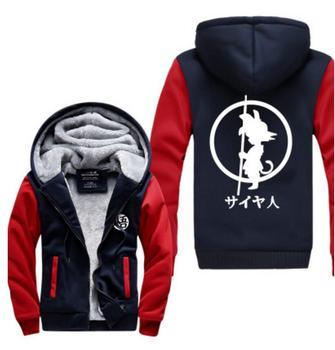 Dragon Ball Z DragonBall Z GoKu Cosplay Costume Saiyan thicken fleeve hoodie jacket coat