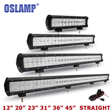 Oslamp CREE Chip 5D 12″ 20″ 23″ 31″ 45″ Auto Combo Led Light Bar OffRoad SUV Led Work Light Driving Led Bar PickUp Car Boat ATV