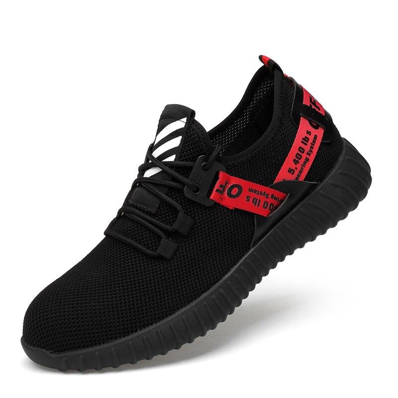 Hommes respirant travail chaussures de sécurité hommes en plein air anti-dérapant en acier Anti-crevaison Construction bottes de sécurité chaussures en acier embout