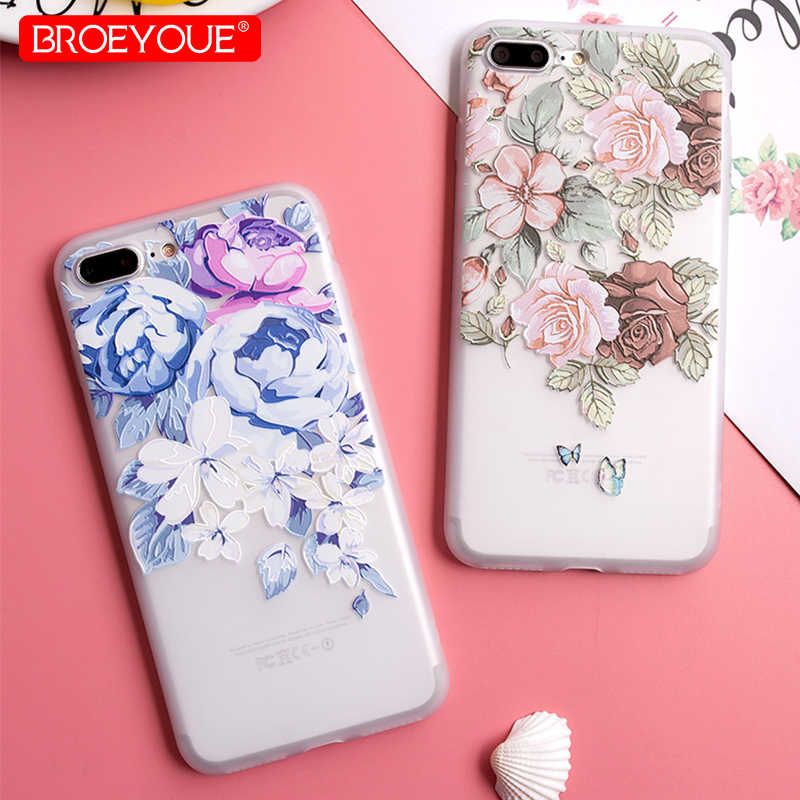 Case For iPhone X XR 11 Pro Max 7 8 Plus 5 6 6S TPU Flowers Case For Samsung Galaxy Note 10 S10 Plus A3 A5 A7 J7 J3 J5 2016 2017