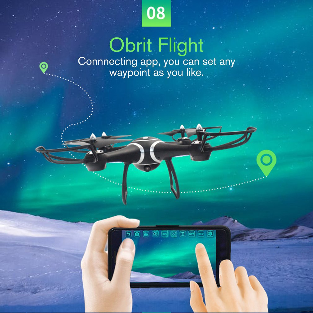 HOT S7W Smart Selfie RC Quadcopter Drone Aircraft with Wifi FPV 0.3MP HD Real-time Camera Altitude Hold 3D Flips for Kids(China)