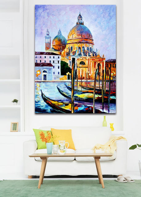 Palette Knife Painting Italy Belgium France Cityscape Architecture ...