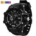 SKMEI Лидирующий бренд, роскошные спортивные часы, мужские цифровые часы, 5 бар, водонепроницаемые, военные, двойной дисплей, наручные часы, ...