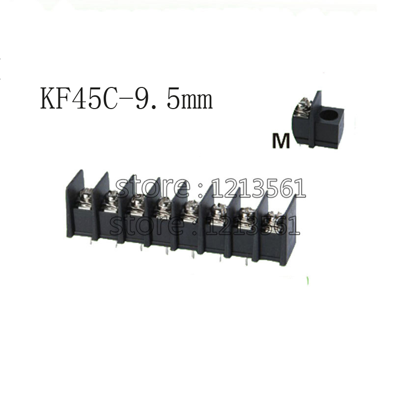 KF45C 9 5mm Barrier Terminal Blocks pitch 9 5mm Brass Connector 300V 30A