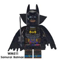 1PCS model building blocks action superheroes Samurai Batman classic learning Dolls diy toys for children gift(China)