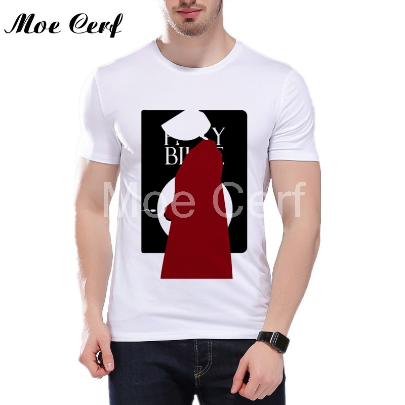 2019 the handmaid's tale T Shirt Men's High Quality Tops Tees Future fantasy TV series Custom make t-shirt Men Cool Tops L5-152 image