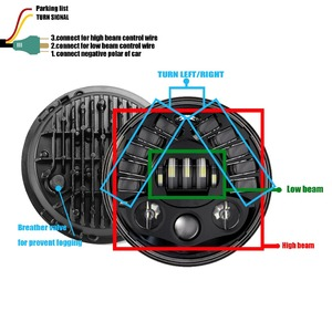 Image 3 - Faro Led para BMW R NineT R9T, luz de circulación diurna de 80w y 7 pulgadas, accesorios para motocicleta Harley, intermitente, luz de estacionamiento