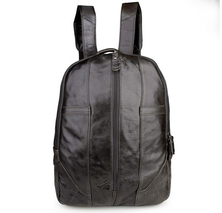 купить 100% Genuine Vintage Leather Knapsack Unisex Backpack Bag 7244J по цене 5871.58 рублей
