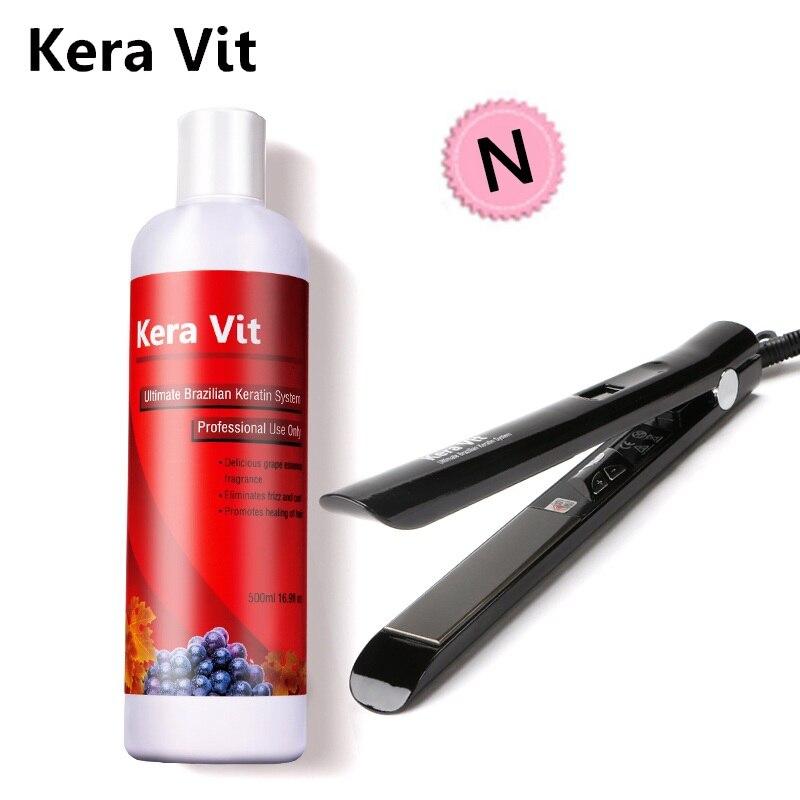 500ml Brazlian Keratin hair treatment Straighten hair +professional HAIR IRON for DIY design and repair hair