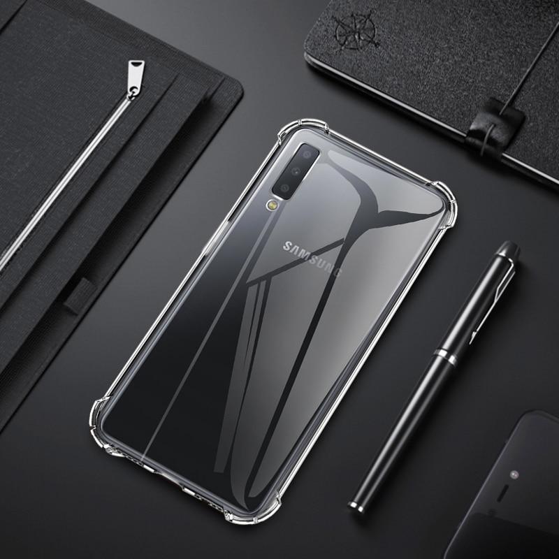Silicone TPU Case For Samsung Galaxy S10 E S10 Plus A7 A9 2018 Transparent Airbag Anti-Drop Cover Galaxy A6 A8 Plus 2018 Capa