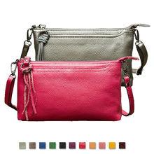 Luxury Genuine Leather Women Messenger Bags Lady Leather Crossbody Bag Fashion Tassel Designer Shoulder Bag Female Small Handbag