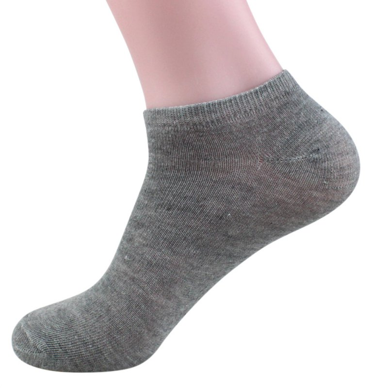 Bamboo Fiber Mens Sports Socks Loafer Liner Low Cut No Show Black Boat Socks Cool Elastic