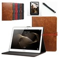 """3in1 New listing luxury PU Leather cover cases for Huawei mediapad 10"""" M2 A01W M2-A01L M2-A01W 10.1"""" stand smart Case+pen+film"""