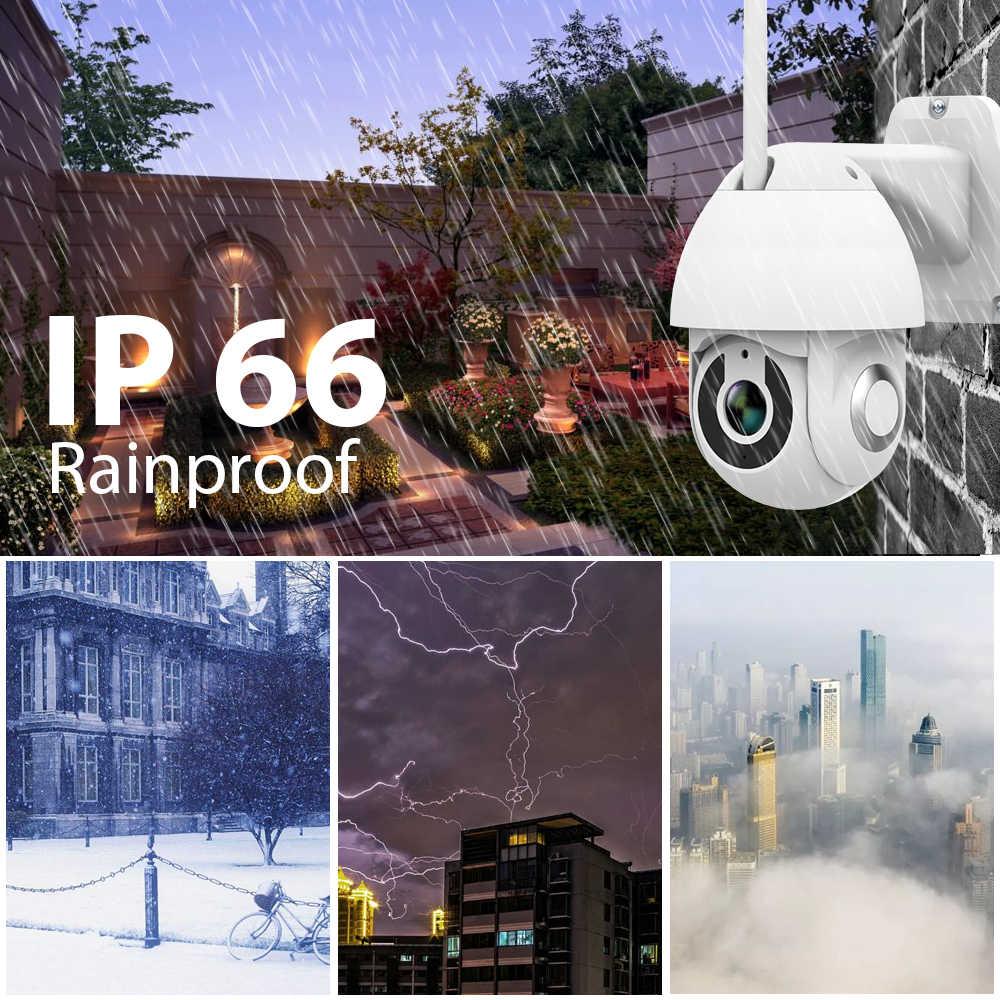 Tuya-cámara de seguridad IP de 1080P, Wifi, inalámbrica, domo de velocidad para exteriores, Pan red CCTV, vigilancia