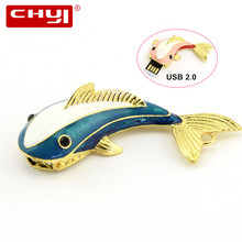USB Flash Drive Memory Stick 4GB 8GB 16GB 32GB 64GB Pendrive Cute Jewelry Whale U Disk External Storage USB 2.0 Pen Drive
