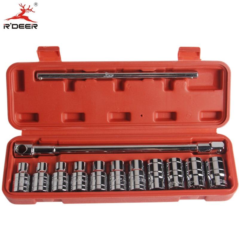RDEER 13pcs Socket Wrench Set 1/2